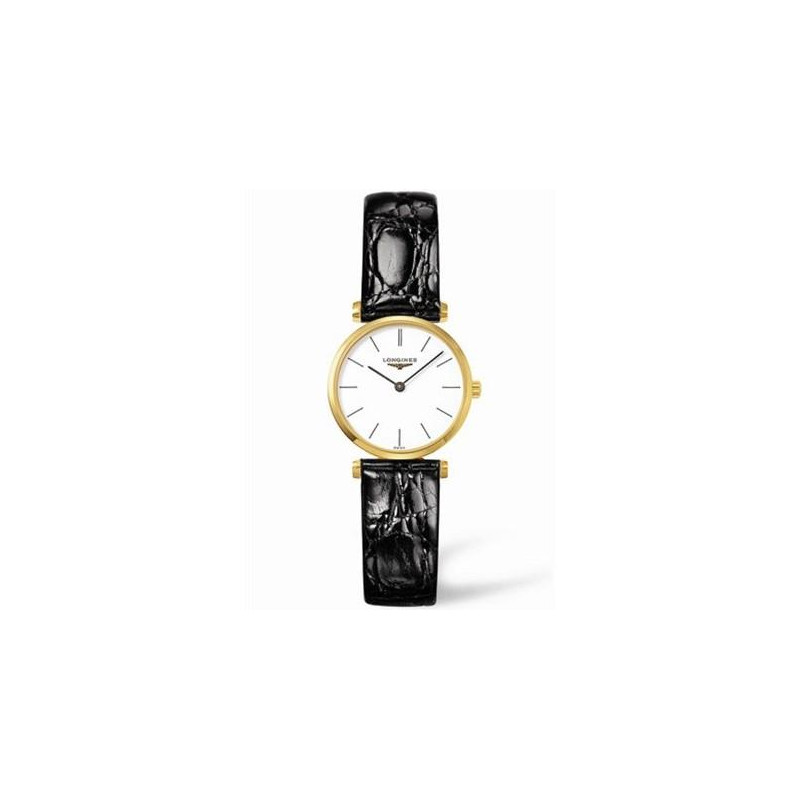 Longines - La Grande Classique yellow gold PVD case and leather strap L42092122