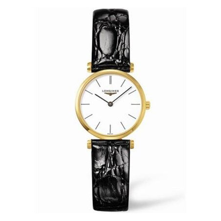 Longines - La Grande Classique gult guld PVD boett och läderband L42092122
