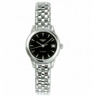 Longines - Flagship 26mm Black Steel Lady's Watch