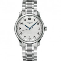 Longines - Master Automatic 38.5 mm white & bracelet