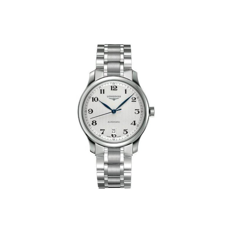 Longines Master men's watch with white dial and steel bracelet L26284786