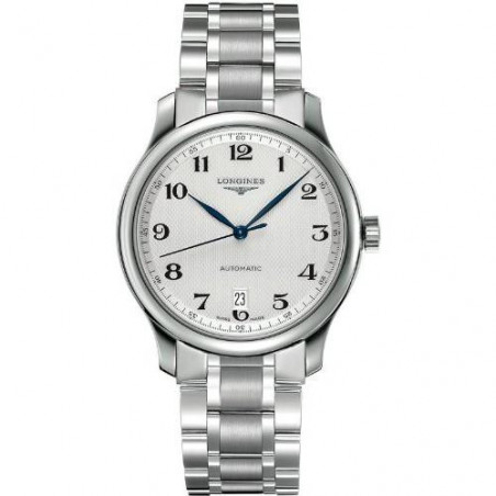 Longines Master men's watch withwhite dial and steel bracelet L26284786