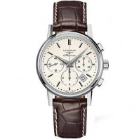 Longines Column-Wheel Chronograph Vit Stål 39 mm