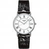 Longines  Presence 38.5mm Quartz white dial and roman numeral and leather strap L47904112
