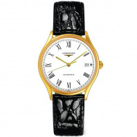 Longines - Lyre 35mm Automatic Gold PVD & Leather strap L48602112