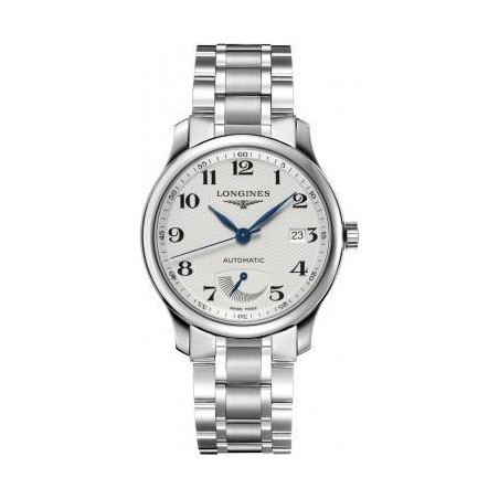 Longines - Master men's watch withwhite dial, power reserve and steel bracelet L27084786