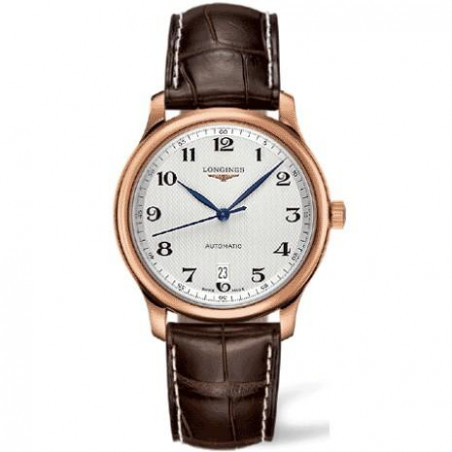 Longines Master Collection Men's watch white and leather strap L26288783