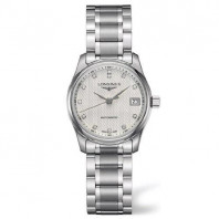 Longines Master Lady - 29 mm White Steel Diamond Lady's Watch