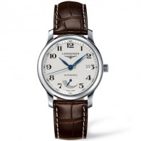 Longines Master White Power Reserve & leather strap