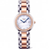 Longines - PrimaLuna - MOP Steel & Gold Diamonds Lady's Watch