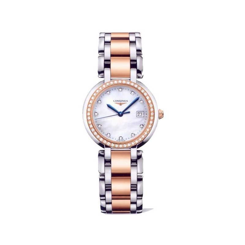 Longines - PrimaLuna 30 mm Steel & Gold Quartz Lady's Watch