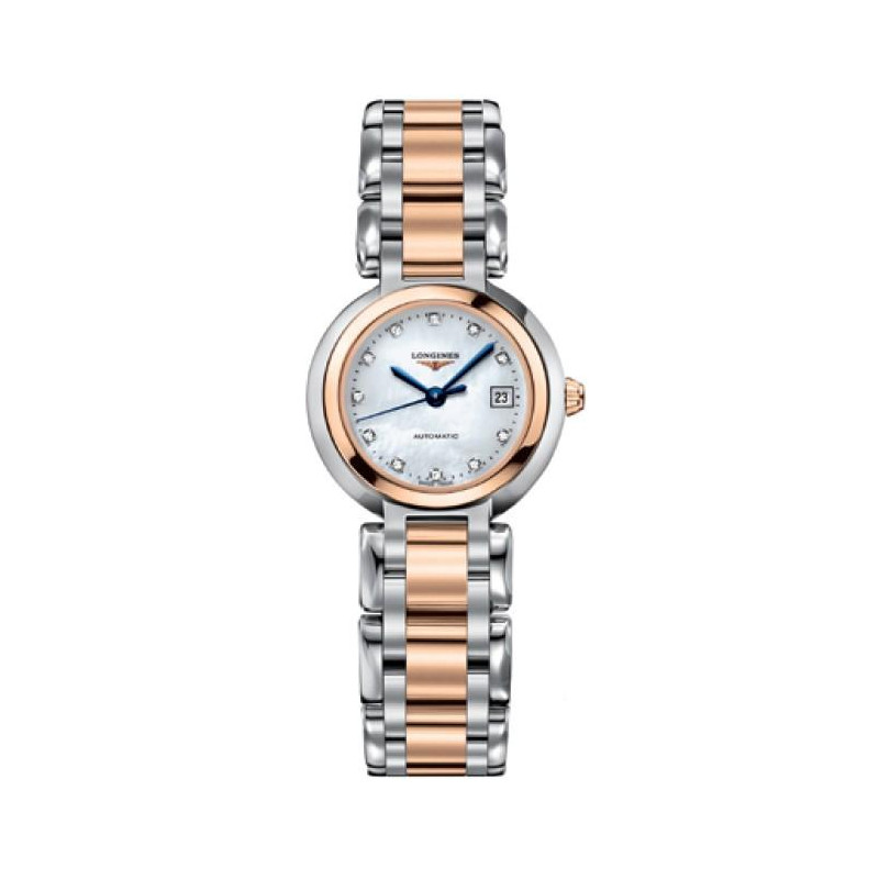 Longines PrimaLuna - 26.5 mm Automatic, Steel & Rose Gold Lady's Watch