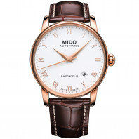 MIDO Baroncelli - Automatic White Leatherstap Gent's