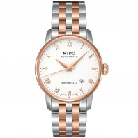 MIDO Baroncelli - Automatic White Steel & Rose Gold PVD Gent's