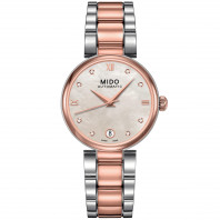 MIDO Baroncelli - Automatic MOP Steel & Rose Gold PVD Diamonds Lady's