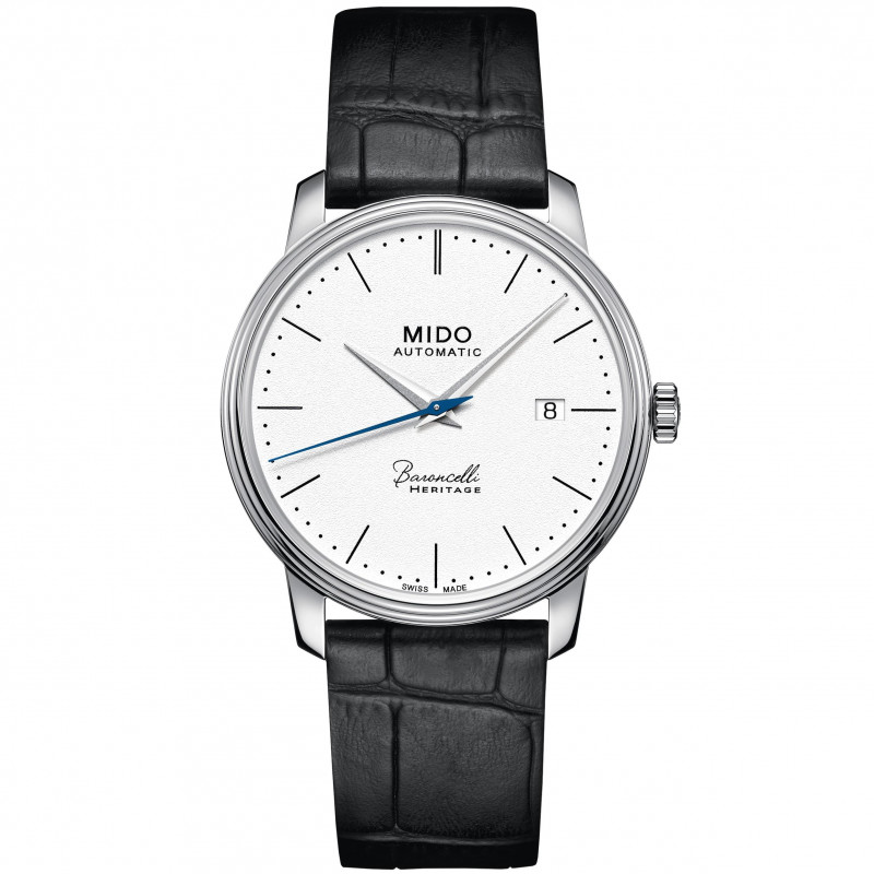 MIDO Baroncelli Heritage - Automatic White Steel Leatherstrap Gent's
