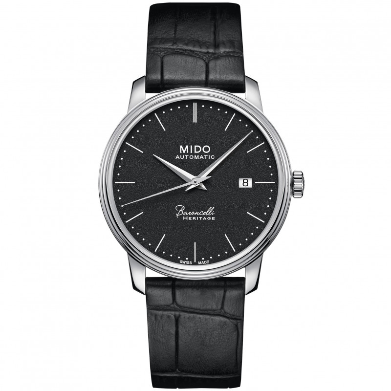 MIDO Baroncelli Heritage - Automatic Black Steel Leatherstrap Gent's