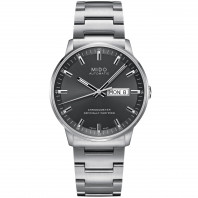 MIDO COMMANDER - COSC - Grey Steel DayDate Gent's Watch