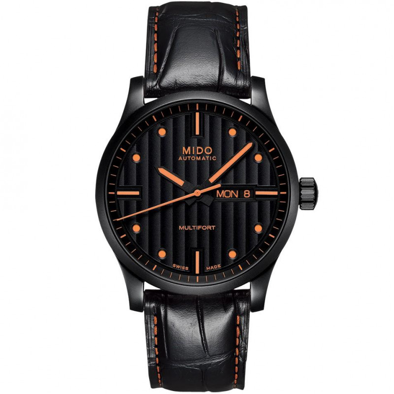 MIDO Multifort - Automatic Black & Orange Leatherstrap Gent's