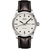 MIDO Multifort - Automatic White Steel Leatherstrap Gent's