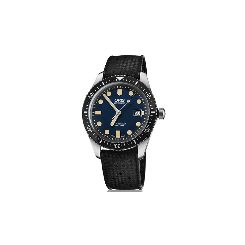 Oris Divers Sixty-Five Blue & rubber strap 73377204055-0742118