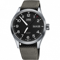 Oris Big Crown ProPilot 45mm Day Date Svart & Textilband