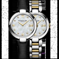 "Raymond Weil - Shine - ""Etoile"" Special Edition- 8 Diamanter Silver & Stållänk"