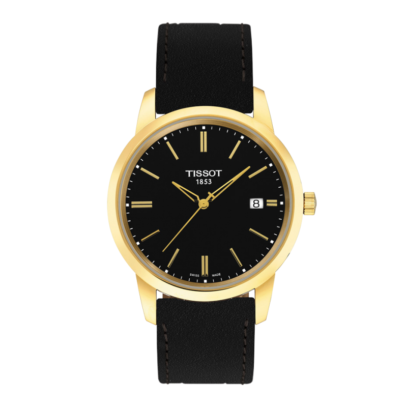 Tissot - Classic Dream men's watch black & leather strap
