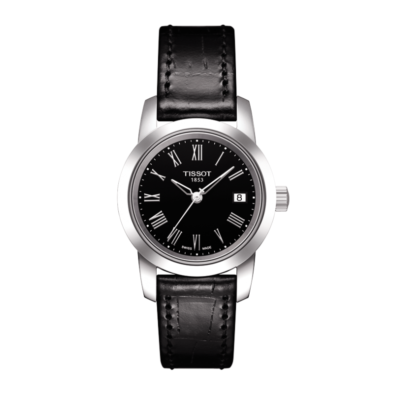 Tissot - Classic Dream Quartz with black leather strap and black dial  T0332101605300