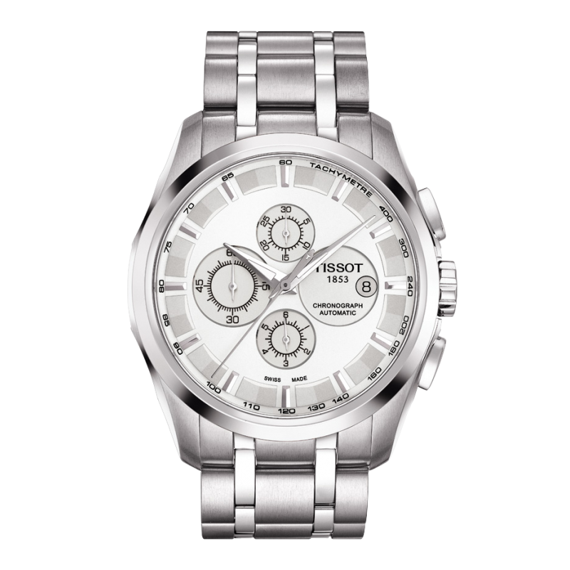 Tissot - Couturier Automatic with Stainless steel strap and silver dialT0356271103100