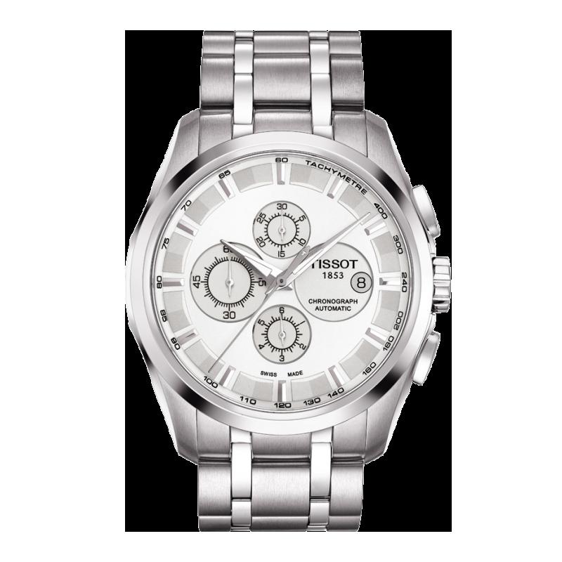 Tissot - Couturier Automatic med metallarmband och silver urtavlaT0356271103100