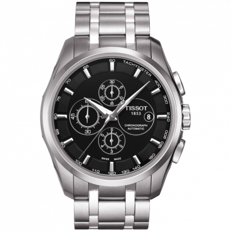 Tissot - Couturier Automaticwith with stainless steelbracelet and blackdial T0356271105100