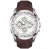 Tissot - Couturier Automatic with brown leatherstrap and silver dialT0356271603100