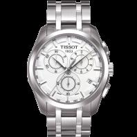 Tissot - Couturier Quartz med metallarmband och silver urtavlaT0356171103100