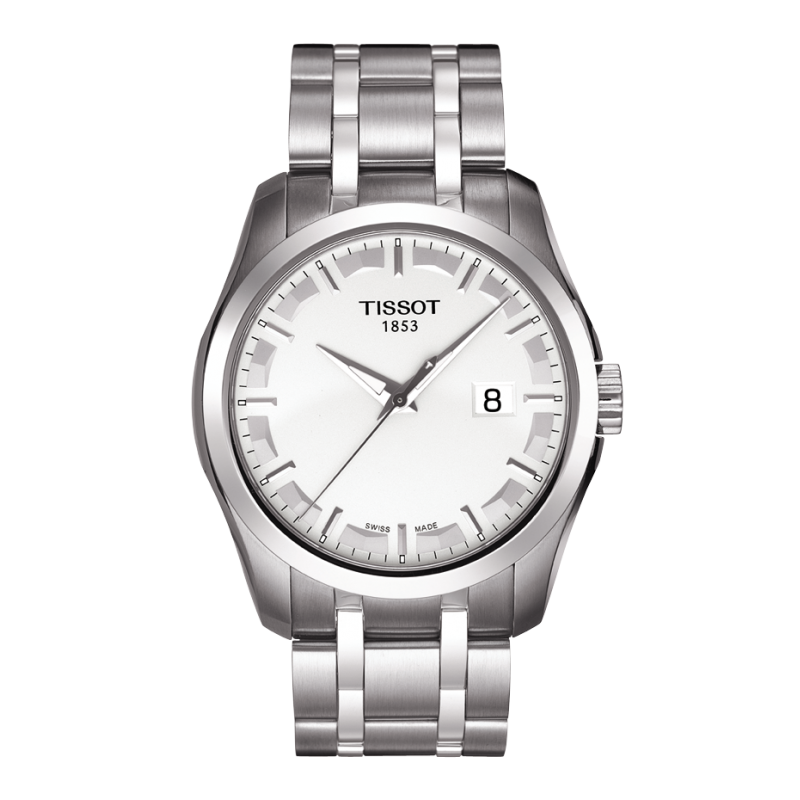 Tissot - Couturier Quartz with stainless steel bracelet and silver dial T0354101103100