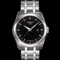 Tissot - Couturier Quartz med metallarmband och svart urtavla T0354101105100