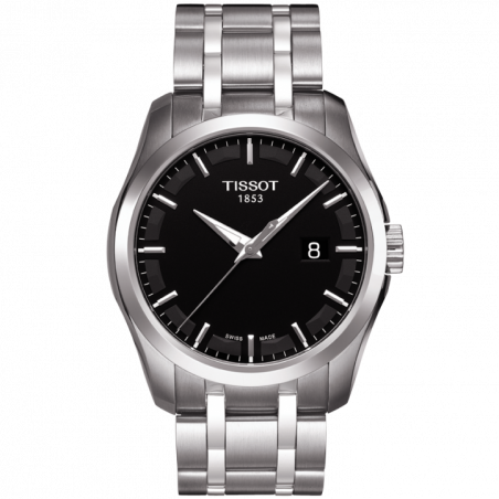 Tissot - Couturier Quartz with stainless steel bracelet and black dial T0354101105100