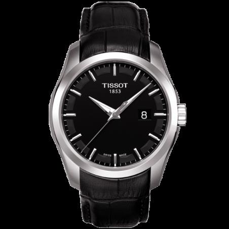 Tissot - Couturier Quartz blackdial & leather strapT0354101605100