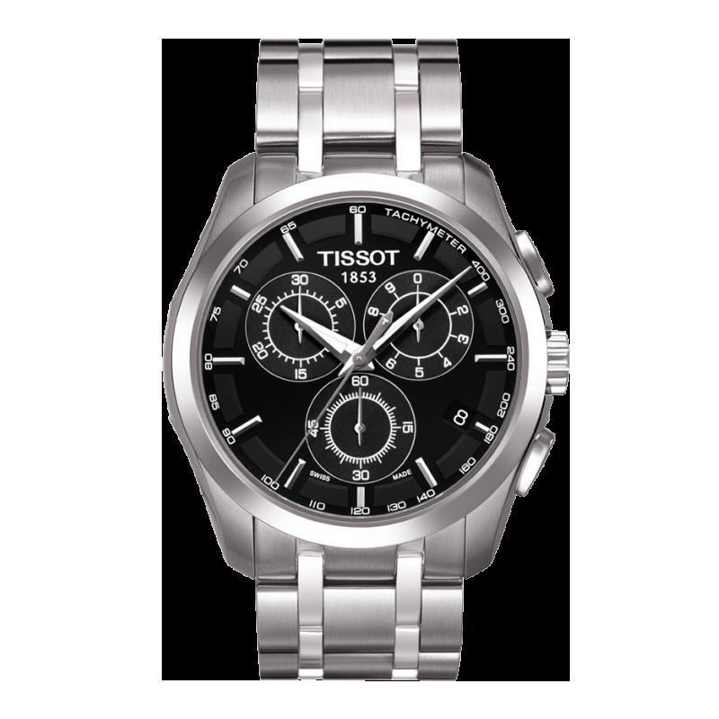 Tissot - Couturier Quartz med metallarmband och svart urtavla T0356171105100