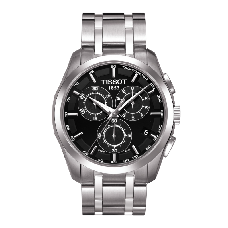 Tissot - Couturier Quartz with Stainless steel strap and black dial T0356171105100