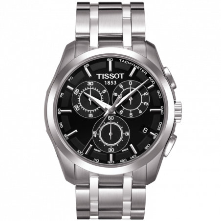 Tissot - Couturier Quartz with Stainless steel strap and black dialT0356171105100