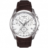 Tissot - Couturier Quartz with Brown leather strap and silver dial  T0356171603100