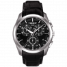 Tissot - Couturier Quartz with black leather strap and black dial  T0356171605100