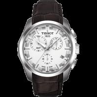 Tissot - Couturier GMT Kvarts silver urtavla och läderbandT0354391603100