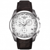 Tissot - Couturier GMT Quartz silver dial and leather strap T0354391603100