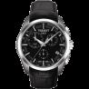 Tissot - Couturier GMT Kvarts svart urtavla och läderbandT0354391605100