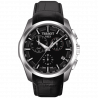 Tissot - Couturier GMT Quartz black dial and leather strap T0354391605100