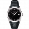 Tissot - Couturier Quartz black dial and leather strap T0352101605100
