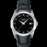 Tissot - Couturier Quartz black dial and leather strapT0352101605100