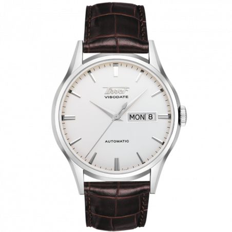 Tissot Heritage Visodate Automatic silver &leather strapT0194301603101
